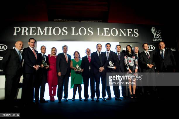 Ana Miralles Florentino Perez Rafa Nadal Cristina Cifuentes Albert Rivera Rafael Catala and Pedro J Ramirez during 'Los Leones' Awards 2017 on...
