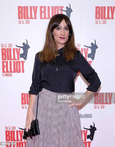 Ana Morgade attends the 'Billy ElliotEl Musical' premiere at Nuevo Alcala Theater on October 18 2017 in Madrid Spain