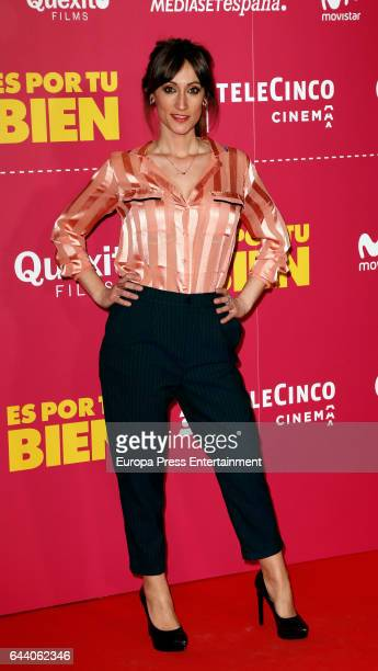 Ana Morgade attends the 'Es por tu bien' premiere at Capitol cinema on February 22 2017 in Madrid Spain