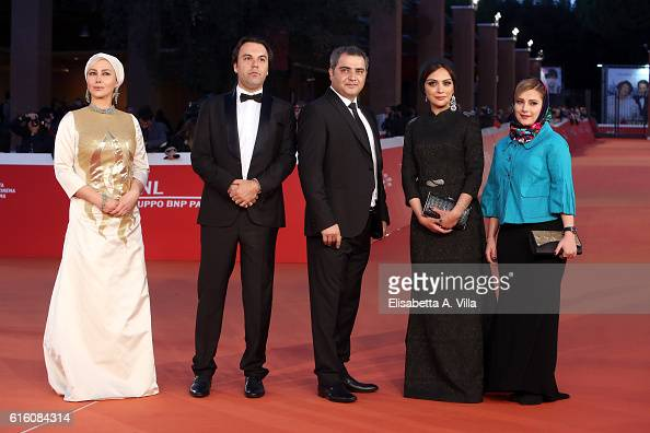 Ana Nemati Mehdi Fard Ghaderi Manouchehr Alipour and Alireza Ostadi walk a red carpet for 'Javdanegi Immortality' during the 11th Rome Film Festival...