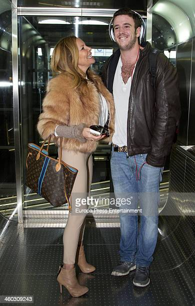 Ana Obregon and her son Alex Lequio are seen on December 18 2013 in Madrid Spain