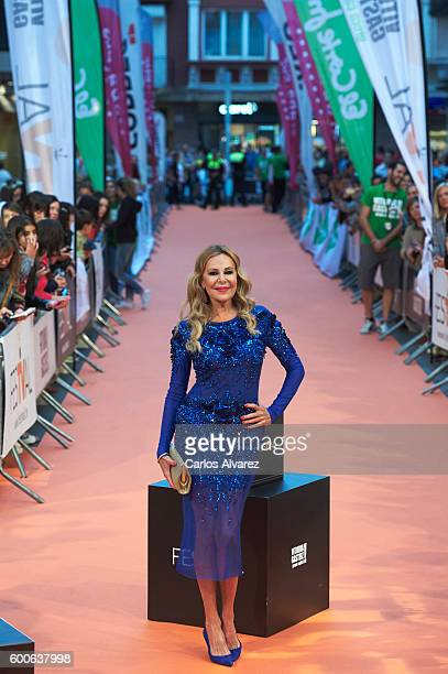 Ana Obregon attends 'Algo Pasa Con Ana' premiere at Principal Teather during FesTVal 2016 Day 4 on September 8 2016 in VitoriaGasteiz Spain