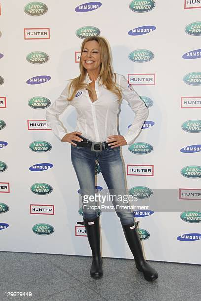 Ana Obregon attends II Land Rover Discovery Challenge kickoff at Samarkanda Restaurant on October 19 2011 in Madrid Spain
