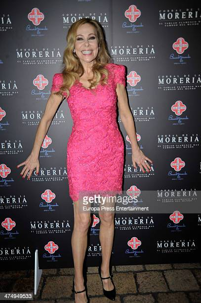 Ana Obregon attends 'Pata Negra' Awards 2013 at Corral de la Moreria on February 25 2014 in Madrid Spain