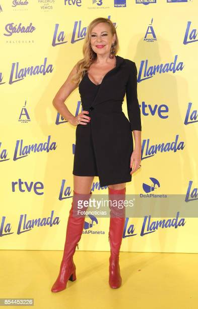 Ana Obregon attends the 'La Llamada' premiere yellow carpet at the Capitol cinema on September 26 2017 in Madrid Spain