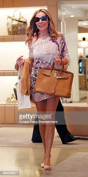 Ana Obregon is seen on April 10 2014 in Madrid Spain