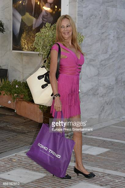 Ana Obregon is seen on August 10 2014 in Marbella Spain