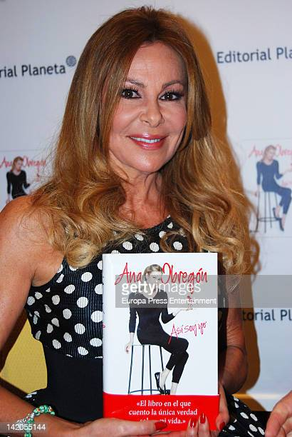 Ana Obregon launches her autobiography 'Asi Soy Yo' on March 28 2012 in Madrid Spain