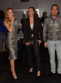 Ana Obregon Rocio Carrasco and Fidel Albiac attend Mercedes Benz Fashion Week Madrid W/F 2014 at Ifema on February 17 2014 in Madrid Spain