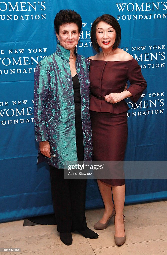 Ana Oliveira and Connie Chung attend New York Women's Foundation 25th Anniversary Celebration at Alice Tully Hall on October 23, 2012 in New York City.