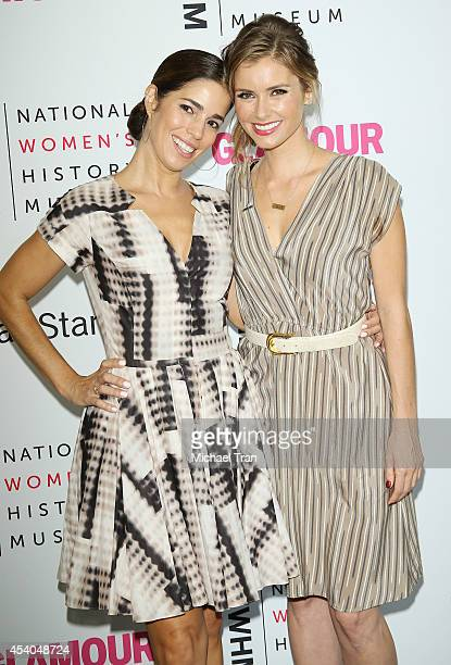 Ana Ortiz and Brianna Brown arrive at the National Women's History Museum's 3rd Annual Women Making History event held at Skirball Cultural Center on...