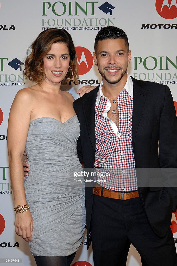 Ana Ortiz and Wilson Cruz attend at Raleigh Studios on September 25, 2010 in Los Angeles, California.