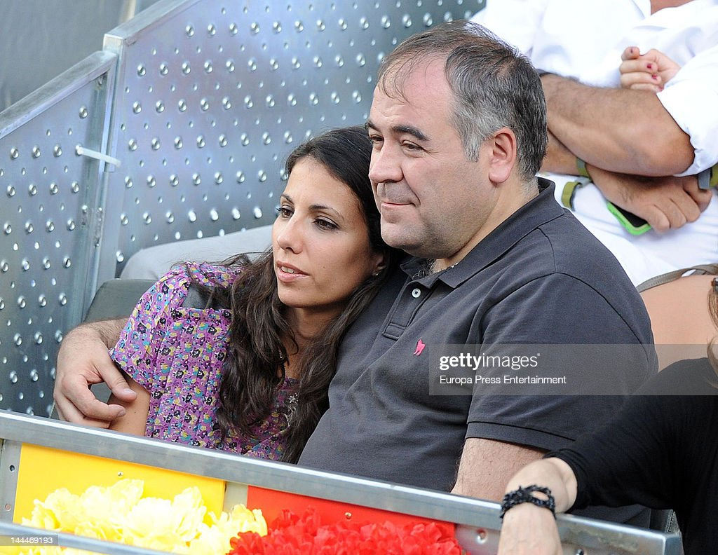 Ana Pastor and Antonio Garcia Ferreras attend Mutua Madrilena Madrid Open on May 13, 2012 in Madrid, Spain.