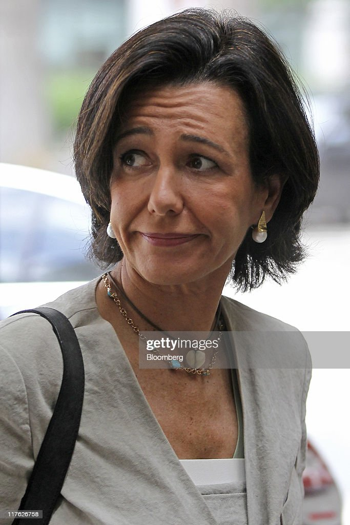 <a gi-track='captionPersonalityLinkClicked' href=/galleries/search?phrase=Ana+Patricia+Botin&family=editorial&specificpeople=2096349 ng-click='$event.stopPropagation()'>Ana Patricia Botin</a>, chief executive officer of Santander UK Plc, arrives at the British Bankers' Association's (BBA) International Banking Conference in London, U.K., on Wednesday, June 29, 2011. The head of the European Banking Authority said 'speculation' that a certain number of banks would fail the upcoming stress tests is 'completely unfounded.' Photographer: Simon Dawson/Bloomberg via Getty Images