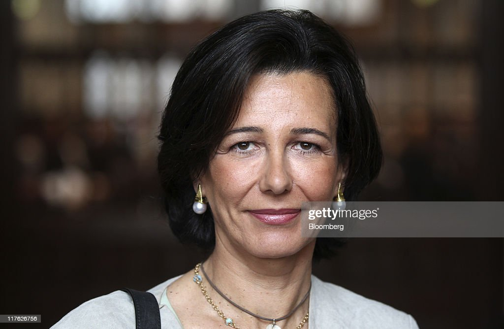 Ana Patricia Botin, chief executive officer of Santander UK Plc, poses for a photograph as she arrives at the British Bankers' Association's (BBA) International Banking Conference in London, U.K., on Wednesday, June 29, 2011. The head of the European Banking Authority said 'speculation' that a certain number of banks would fail the upcoming stress tests is 'completely unfounded.' Photographer: Simon Dawson/Bloomberg via Getty Images