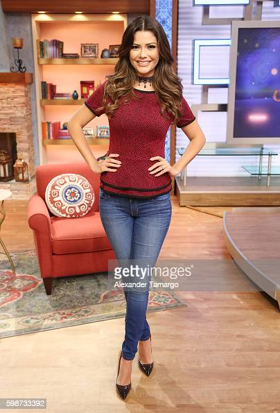 Ana Patricia Gamez is seen on the set of 'Despierta America' at Univision Studios on September 2 2016 in Miami Florida