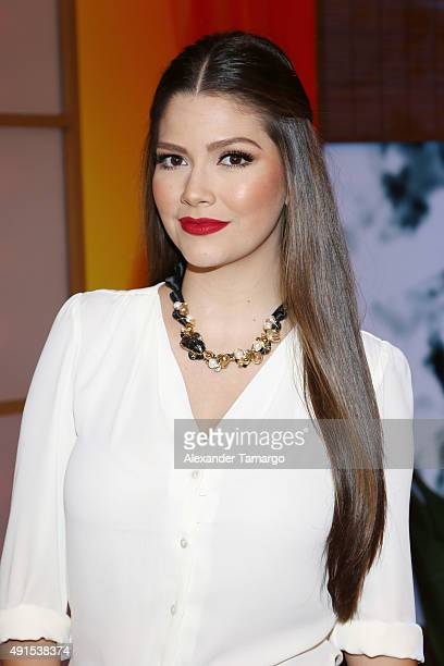 Ana Patricia Gamez is seen on the set of 'Despierta America' at Univision Studios on October 6 2015 in Miami Florida