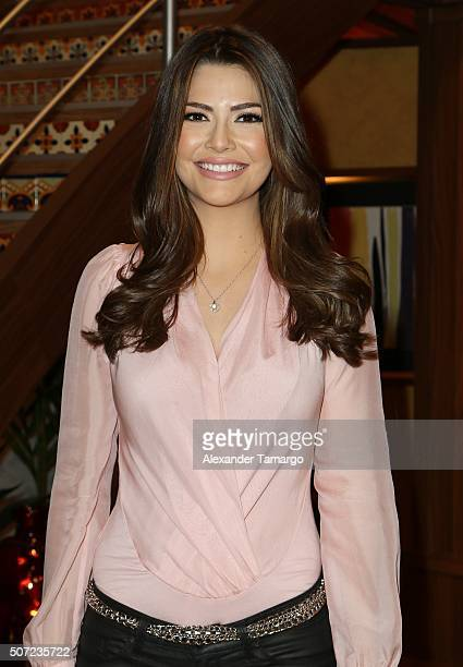 Ana Patricia Gamez is seen on the set of 'Despierta America' to promote the film '50 Shades of Black' at Univision Studios on January 28 2016 in...