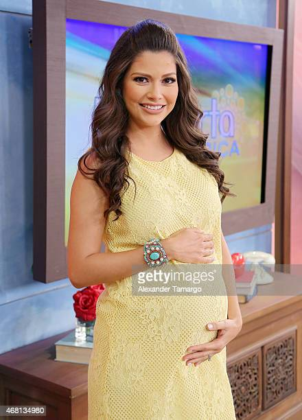 Ana Patricia Gamez is seen on the set of Univision's morning show 'Despierta America' at Univision Studios on March 30 2015 in Miami Florida