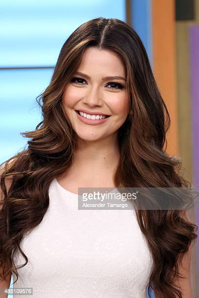 Ana Patricia Gamez visits the set of 'Despierta America' at Univision Studios on August 24 2015 in Miami Florida