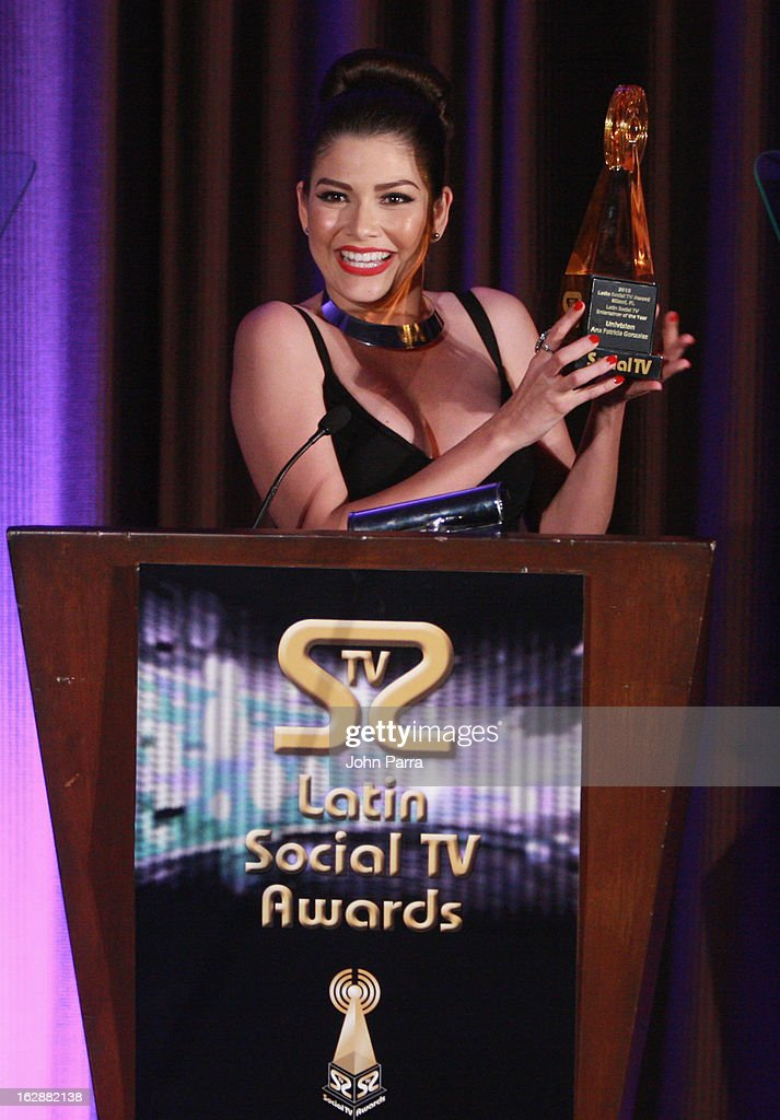 <a gi-track='captionPersonalityLinkClicked' href=/galleries/search?phrase=Ana+Patricia+Gonzalez&family=editorial&specificpeople=7013097 ng-click='$event.stopPropagation()'>Ana Patricia Gonzalez</a> accepts an award onstage at the 2013 Latin Social TV Awards at Fontainebleau Miami Beach on February 28, 2013 in Miami Beach, Florida.