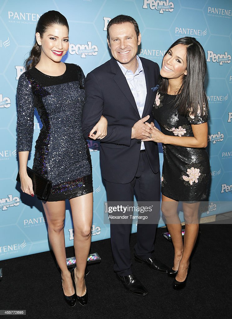 Ana Patricia Gonzalez, Alan Tacher and Karla Martinez arrive at the Estrellas Del Ano De People En Espanol party at The James Royal Palm Hotel on December 12, 2013 in Miami, Florida.