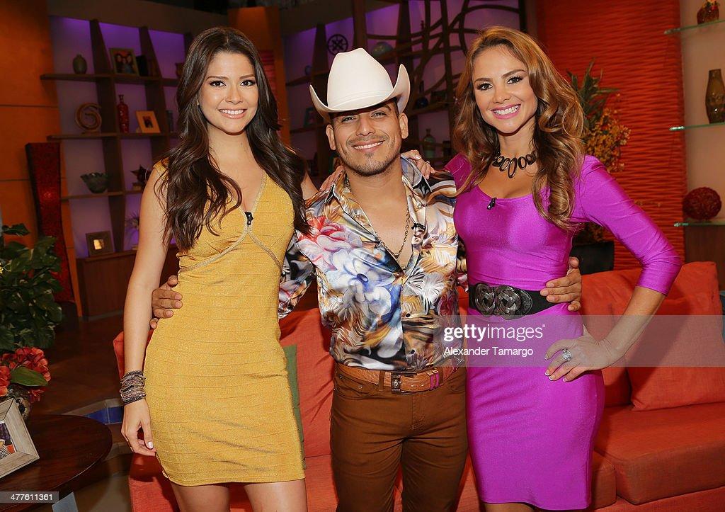 Ana Patricia Gonzalez, Espinoza Paz and Ximena Cordoba are seen on the set of Univision's Despierta America morning show at Univision Headquarters on March 10, 2014 in Miami, Florida.