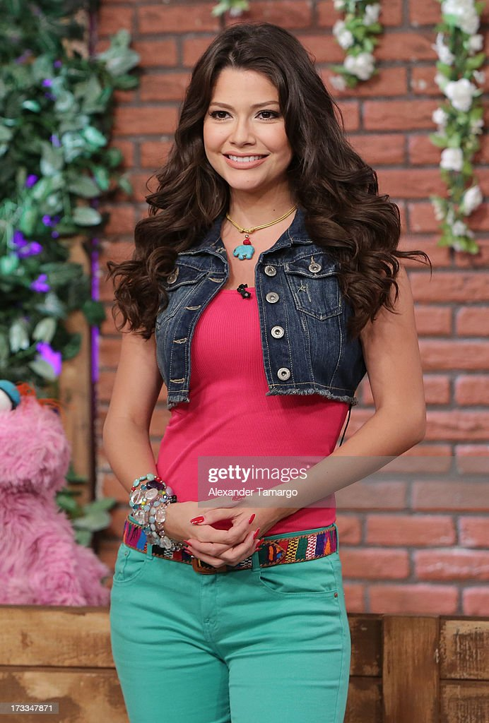 Ana Patricia Gonzalez is seen during Sesame Street's visit of Univision's 'Despierta America' at Univision Headquarters on July 12, 2013 in Miami, Florida.
