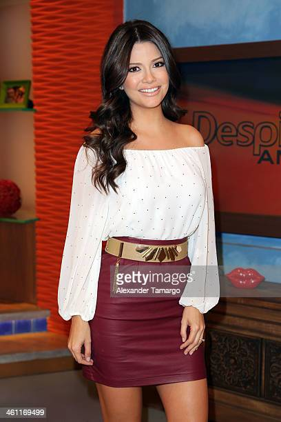 Ana Patricia Gonzalez is seen on the set of Univision's 'Despierta America' at Univision Headquarters on January 7 2014 in Miami Florida