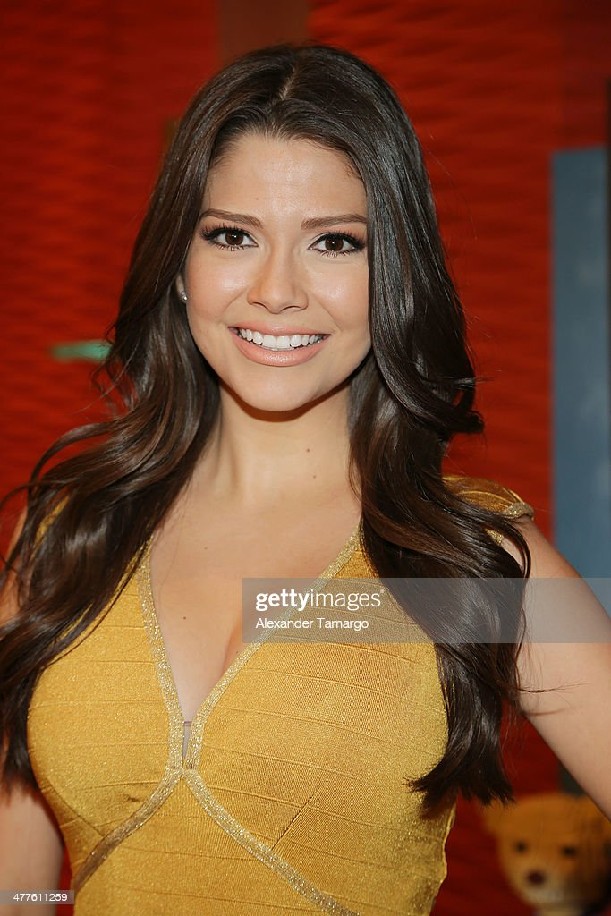 Ana Patricia Gonzalez is seen on the set of Univision's Despierta America morning show at Univision Headquarters on March 10, 2014 in Miami, Florida.