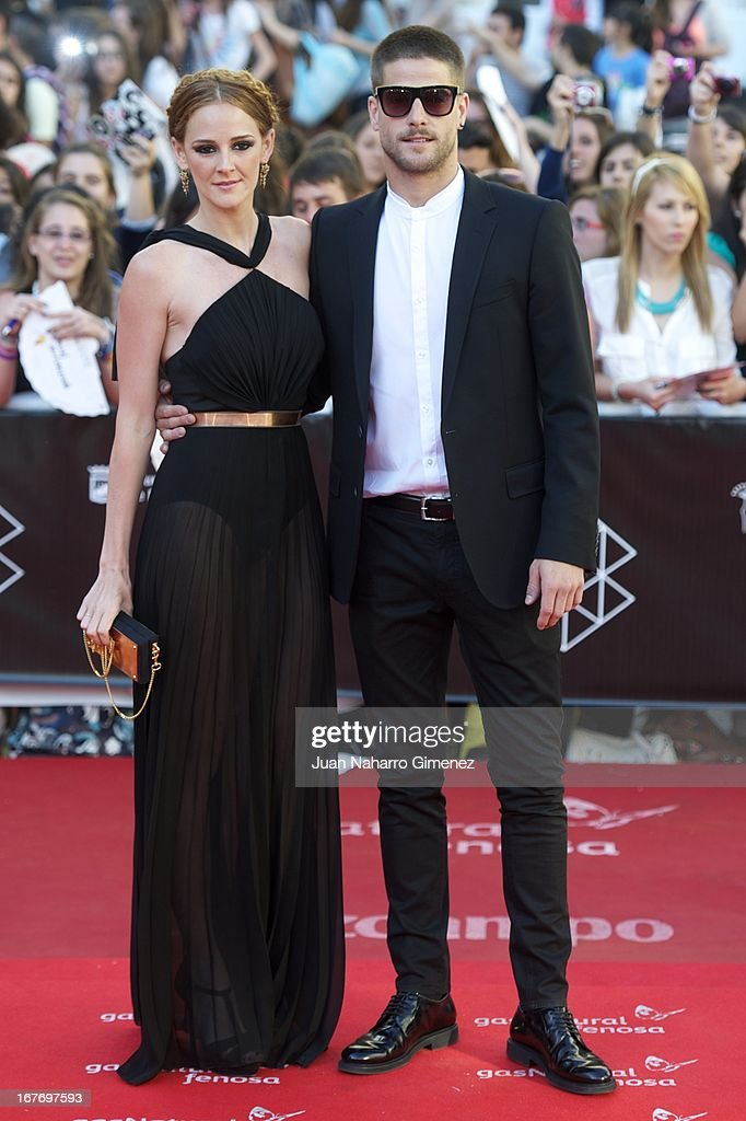 Ana Polvorosa (L) and Luis Fernandez (R) attend 16 Malaga Film Festival ceremony at Teatro Cervantes on April 27, 2013 in Malaga, Spain.