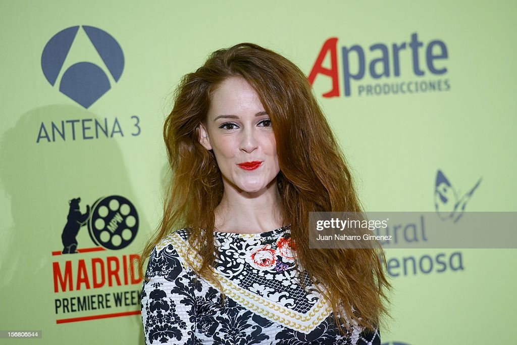 Ana Polvorosa attends 'Fenomenos' Premiere at Callao Cinema on November 21, 2012 in Madrid, Spain.