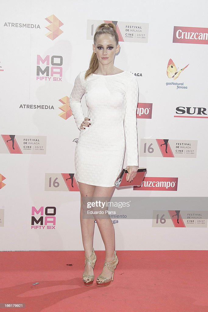 Ana Polvorosa attends Malaga Film Festival party photocall at MOMA 56 disco on April 9, 2013 in Madrid, Spain.