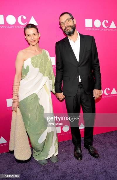 Ana Prvacki and Artist Sam Durant at the MOCA Gala 2017 honoring Jeff Koons at The Geffen Contemporary at MOCA on April 29 2017 in Los Angeles...