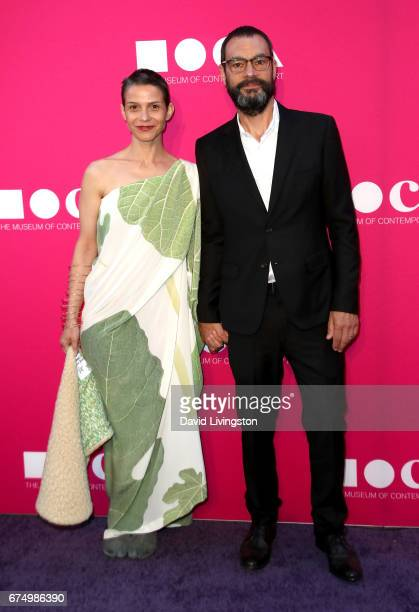 Ana Prvacki and Artist Sam Durant attend the 2017 MOCA Gala at The Geffen Contemporary at MOCA on April 29 2017 in Los Angeles California