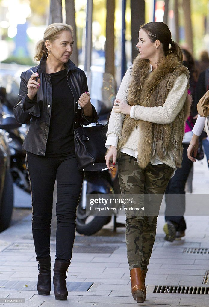 Ana Rodriguez and Amelia Bono (R) are seen on November 22, 2012 in Madrid, Spain.