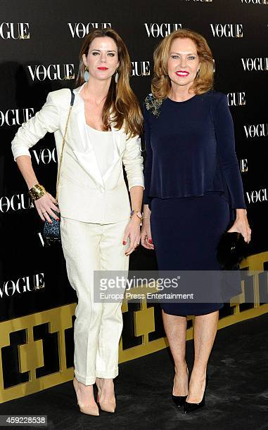 Ana Rodriguez and Amelia Bono attend Vogue Joyas 2014 Awards on November 18 2014 in Madrid Spain