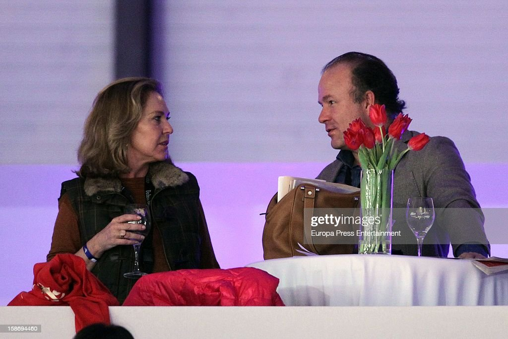 Ana Rodriguez and Ernesto Manrique attend Madrid Horse Week Fair 2012 at Ifema on December 23, 2012 in Madrid, Spain.