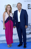 Ana Rodriguez and Ernesto Manrique attend the premiere of 'El Nino' at Kinepolis Cinema on August 28 2014 in Madrid Spain