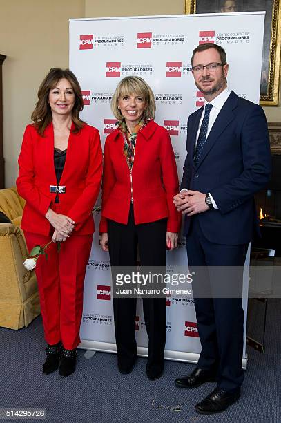 Ana Rosa Quintana and Javier Maroto attend 'International Women's Day' at Club Financiero Genova on March 8 2016 in Madrid Spain