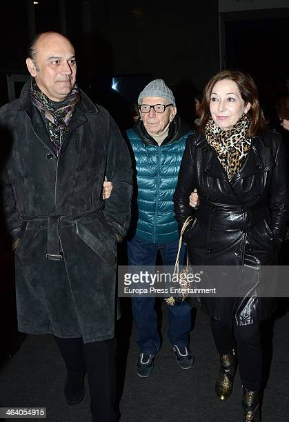 Ana Rosa Quintana and Juan Munoz attend the homage to the flamenco singer Enrique Morente at Circo Price Theatre on January 19 2014 in Madrid Spain