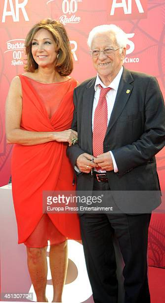Ana Rosa Quintana and Padre Angel attend El Programa de Ana Rosa's 10th anniversary party on June 26 2014 in Madrid Spain