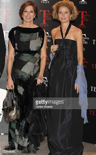 Ana Rosa Quintana and Pilar Medina Sidonia attend TELVA Magazine Fashion Awards on October 23 2006 at Hotel Palace in Madrid Spain