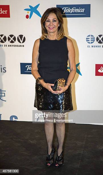 Ana Rosa Quintana attends International Journalism Award and the 25th Anniversary of 'El Mundo' newspaper at The Westin Palace Hotel on October 20...