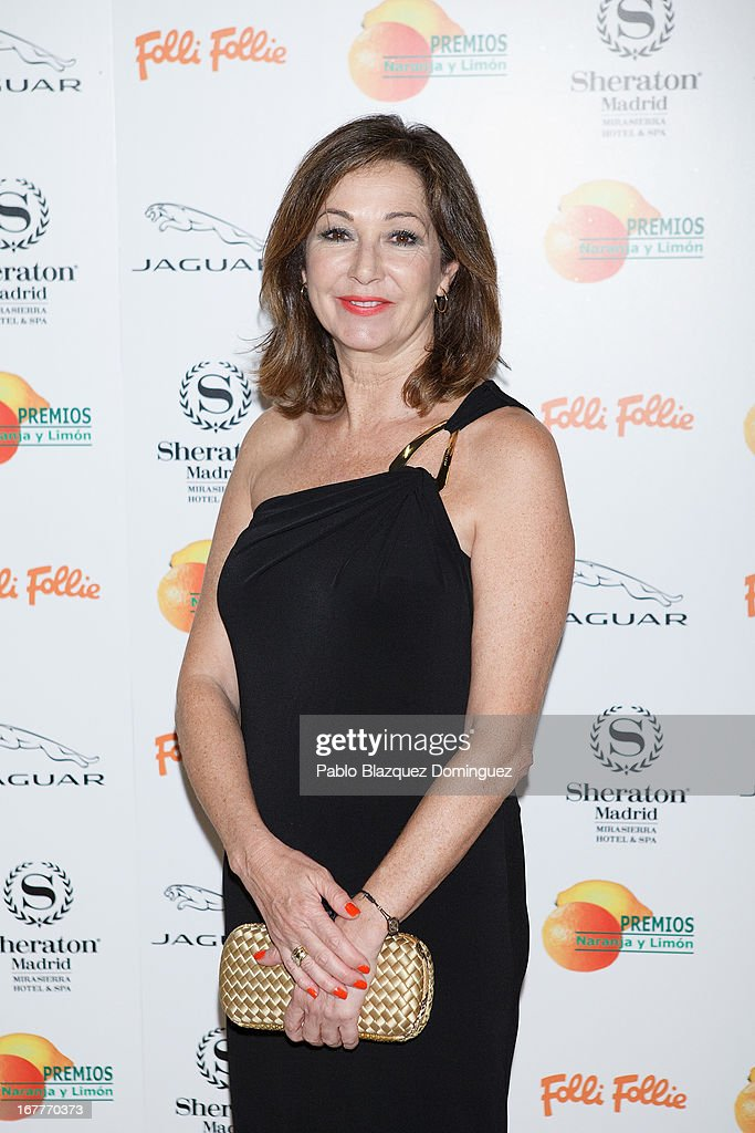 Ana Rosa Quintana attends 'Orange And Lemon' Awards ceremony at Sheraton Mirasierra Hotel on April 29, 2013 in Madrid, Spain.