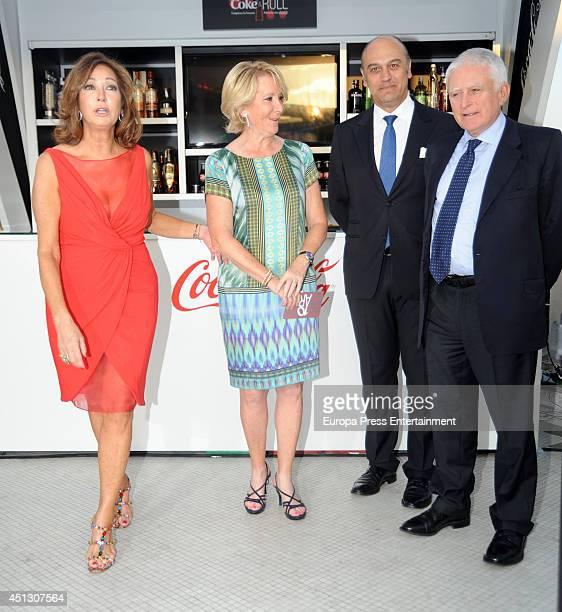 Ana Rosa Quintana Esperanza Aguirre Juan Munoz and Paolo Vasile attend El Programa de Ana Rosa's 10th anniversary party on June 26 2014 in Madrid...