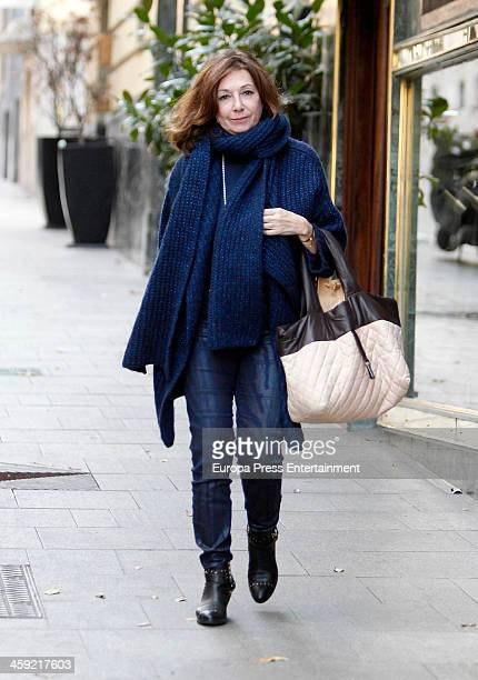 Ana Rosa Quintana is seen on December 23 2013 in Madrid Spain