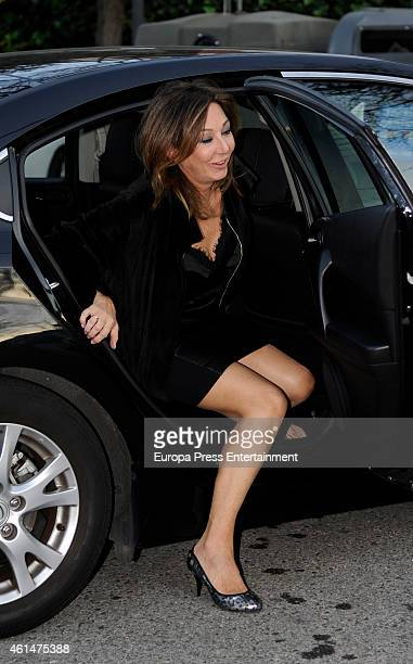 Ana Rosa Quintana is seen on January 12 2015 in Madrid Spain