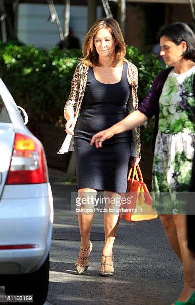 Ana Rosa Quintana is seen on September 18 2013 in Madrid Spain