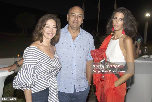 Ana Rosa Quintana Juan Munoz and Ines Domecq attend beneficial cocktail for children with Cancer of the Andex Association in Sotogrande on August 3...
